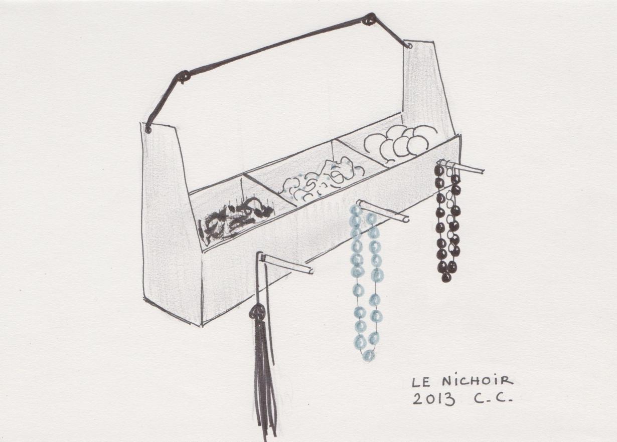 Croquis, Le nichoir, projet 2013