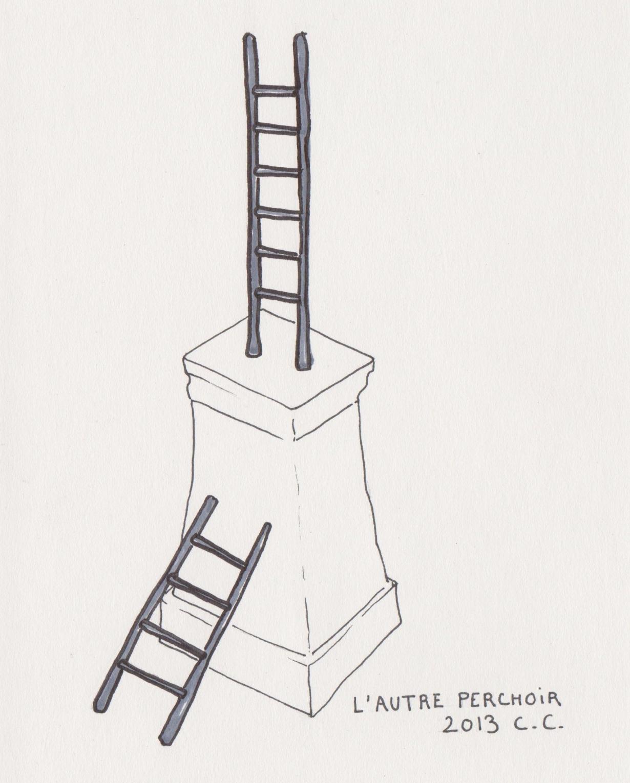 Croquis, L'autre perchoir, projet 2013